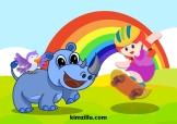 girl and rhino 2