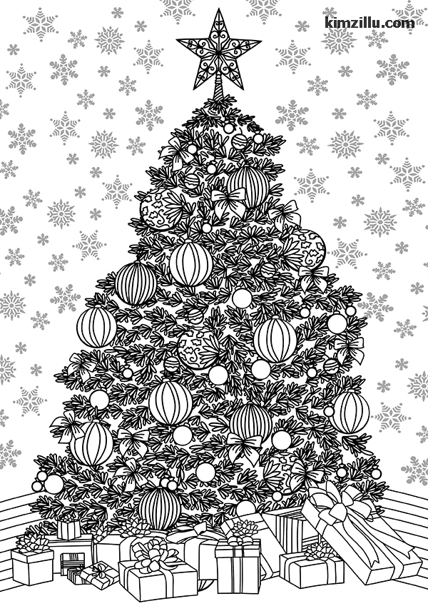 nice christmas tree adult coloring pages ideas christmas picture