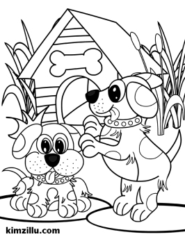 kimzillu.com - puppies illustration